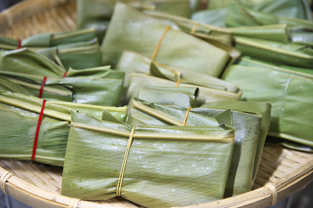 Rice cakes wrapped in Alpinia zerumbet leaf traditional Okinawan