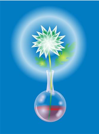 crystal shining flower Stock Vector - 116861206