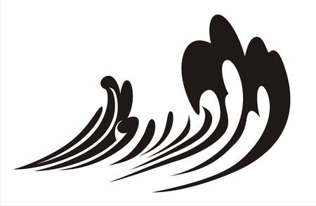 Wave icon Иллюстрация