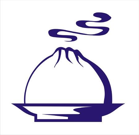 Dumpling icon Illustration