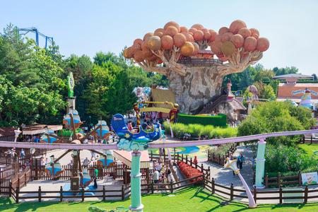Castelnuovo del Garda, tree, Italy - Agust 31, 2016: Gardaland Theme Amusement Park in Castelnuovo Del Garda, Verona, Italy.