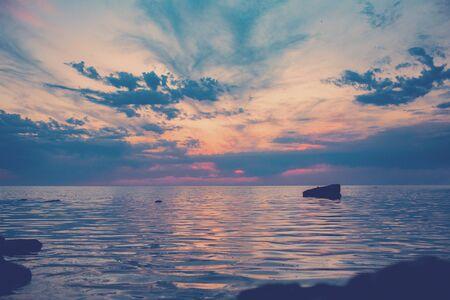 Sunset on the Caspian Sea.