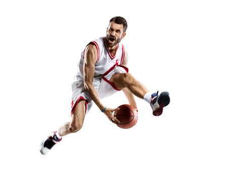Basketball-Spieler auf weißem