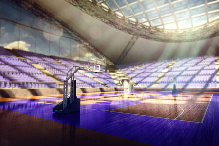basketball arena 3d render photo
