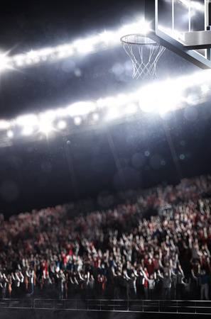 3d basketball arena Render