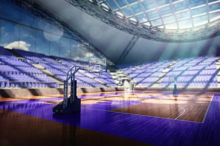3 차원 농구 경기장 렌더링 스톡 콘텐츠 - 28788507