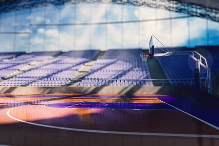 basketball background: 3d basketball arena Render