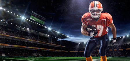 sport fan: American football sportsman player in stadium