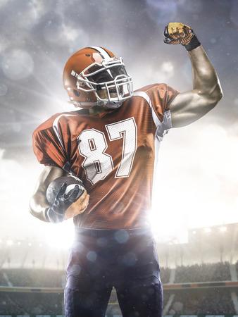 American football sportsman player in stadium photo