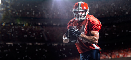 American football sportsman player in sports competition stadium Stock Photo