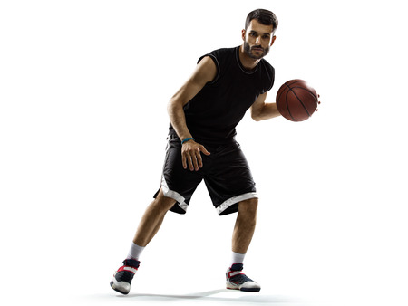 basketball player: Basketball player in action isolated on white