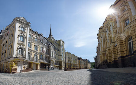 enclave: Beutiful city street in the sunny day
