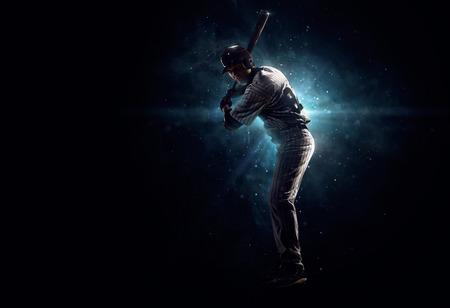 pelota de beisbol: Jugador de b�isbol profesional se tanding en el punto de mira