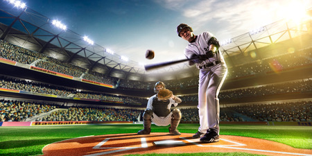 Professional baseball players on the grand arena 免版税图像 - 36879111
