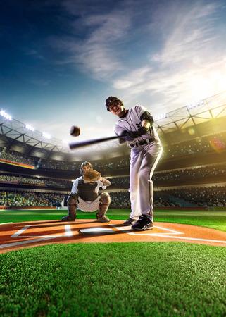 baseball: Jugadores de b�isbol profesionales en la gran arena