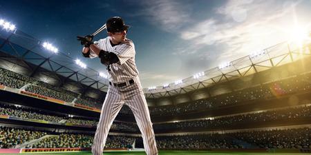 Joueur de baseball professionnel en action sur Grand Arena Banque d'images - 36880507