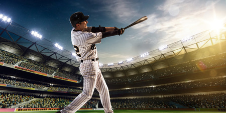murcielago: Jugador de béisbol profesional en la acción en Grand Arena