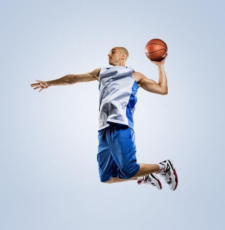 행동 농구 선수 흰색 배경에 고립 스톡 콘텐츠 - 36896252