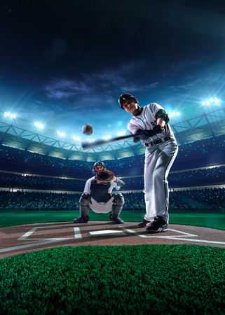 baseball stadium: Professional baseball players on the grand arena