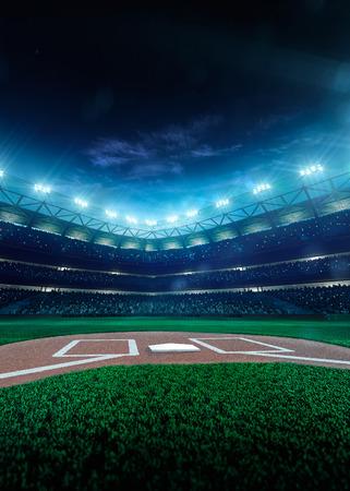Baseball professionnel Grand Arena dans la nuit Banque d'images - 36911041