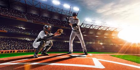 Giocatori professionisti di baseball sul Grand Arena Archivio Fotografico - 38237043
