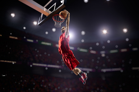 a basketball player: Basketball player in action Stock Photo