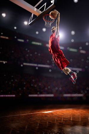 Basketball player in action Banco de Imagens