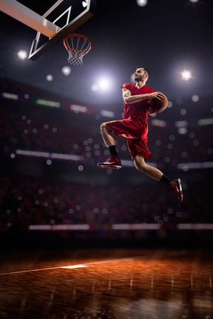 an action: Basketball player in action Stock Photo
