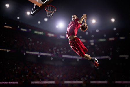 Basketbalspeler in actie