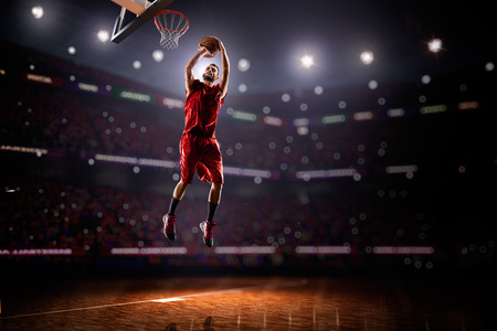 basketball court: Basketball player in action Stock Photo