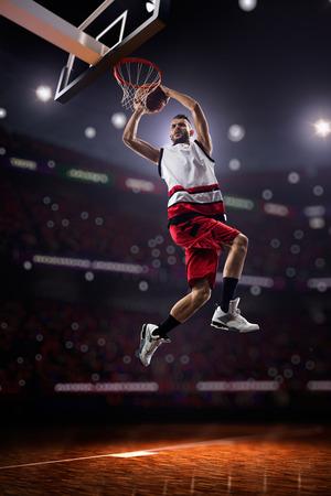 joueur de basket dans l'action