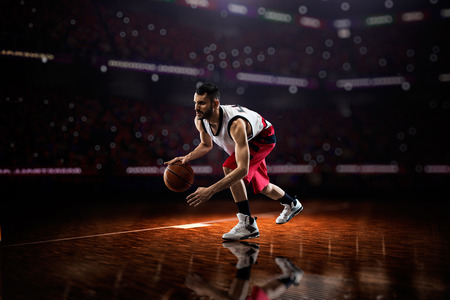 basketball player: Basketball player in action Stock Photo