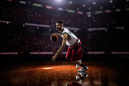 Basketball player in action photo