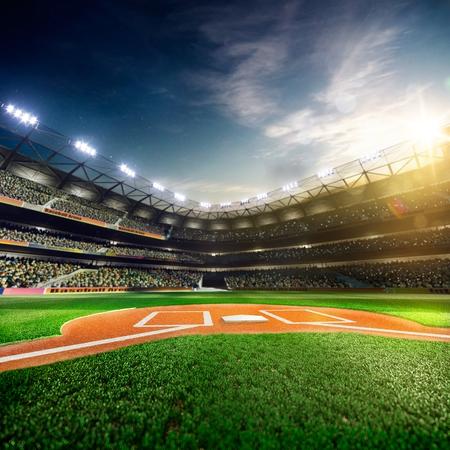 menschenmenge: Professionelle Baseball-Grand Arena im Sonnenlicht Lizenzfreie Bilder