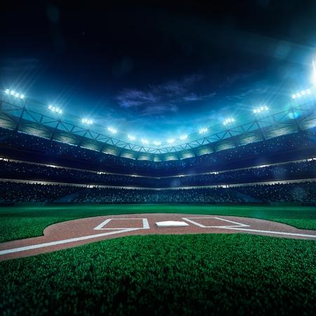 Baseball professionnel Grand Arena dans la nuit Banque d'images - 39600296