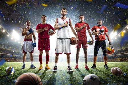 Boxe giocatori di pallavolo calcio calcio basket su Grand Arena