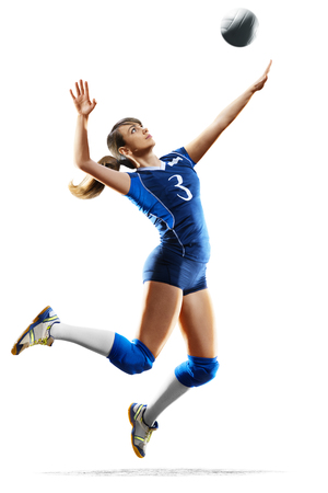 Female professional volleyball player isolated on white Stock Photo - 82914492