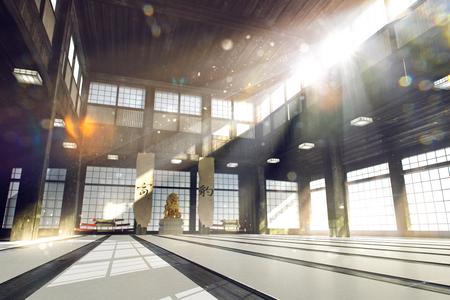 3d rendered illustration of karate dojo background karate school