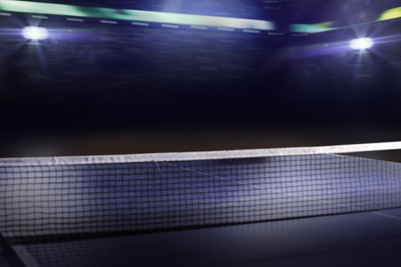 tennis background 3d render Stock Photo