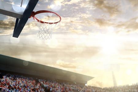 Basketball basket outdoor day sky arena spectators