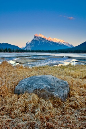 Mount Rundle in Banff National Park, Canada Stock Photo - 83665475