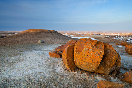 sight seeing: Red Rock Coulee in Southern Alberta, Canada Stock Photo