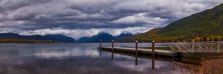 The dock on Lake MacDonald in Glacier National Park.