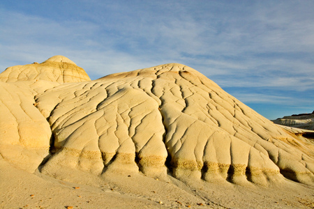 The badlands in Dinosaur Provincial Park Stock Photo