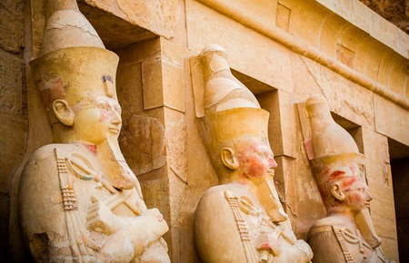 Statues at the temple of Hatshepsut, Egypt