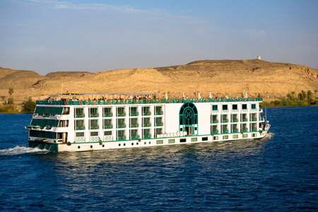 Cruising down the Nile in a River Cruise Ship, Egypt