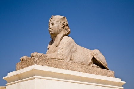 The Sphinx at Pompey's Pillar, Alexandria, Egypt Banque d'images - 95979733