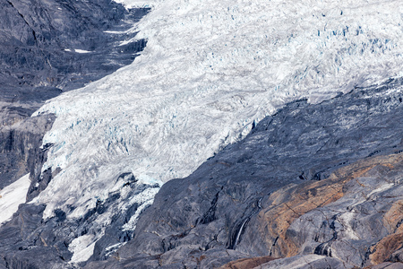 Aerial view of the Columbia Icefield in the Canadian Rocky Mountains, British Columbia, Canada