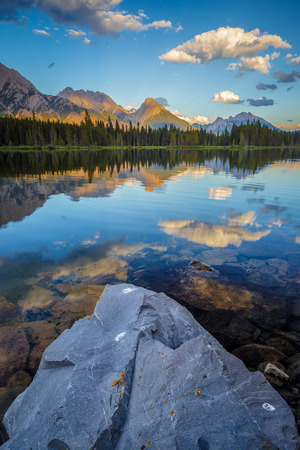 Spillway Lake and the Opal Range, Peter Lougheed Provincial Park, Kananaskis Country, Alberta, Canada