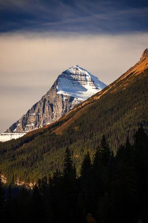 View of Mount Columbia, tallest peak in Alberta, Canada